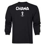 Ghana 2014 FIFA World Cup Brazil(TM) Men's LS Core T-Shirt (Black)