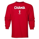 Ghana 2014 FIFA World Cup Brazil(TM) Men's LS Core T-Shirt (Red)