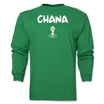 Ghana 2014 FIFA World Cup Brazil(TM) Men's LS Core T-Shirt (Green)