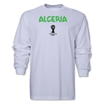 Algeria 2014 FIFA World Cup Brazil(TM) Men's LS Core T-Shirt (White)