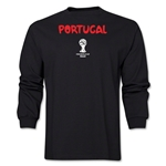 Portugal 2014 FIFA World Cup Brazil(TM) Men's LS Core T-Shirt (Black)