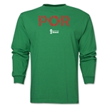 Portugal 2014 FIFA World Cup Brazil(TM) Men's LS Element T-Shirt (Green)