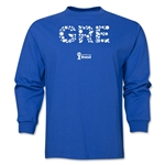 Greece 2014 FIFA World Cup Brazil(TM) Men's LS Elements T-Shirt (Royal)