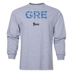 Greece 2014 FIFA World Cup Brazil(TM) Men's LS Elements T-Shirt (Grey)