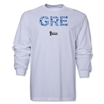 Greece 2014 FIFA World Cup Brazil(TM) Men's LS Elements T-Shirt (White)