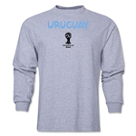 Uruguay 2014 FIFA World Cup Brazil(TM) Men's LS Core T-Shirt (Grey)