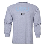 Uruguay 2014 FIFA World Cup Brazil(TM) Men's LS Elements T-Shirt (Gray)