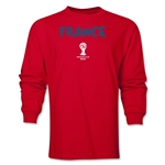 France 2014 FIFA World Cup Brazil(TM) Men's LS Core T-Shirt (Red)