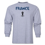 France 2014 FIFA World Cup Brazil(TM) Men's LS Core T-Shirt (Grey)