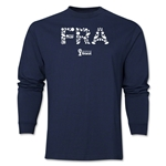 France 2014 FIFA World Cup Brazil(TM) Men's LS Elements T-Shirt (Navy)