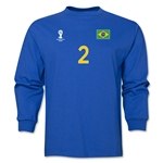 Brazil 2014 FIFA World Cup Brazil(TM) Men's LS Number 2 T-Shirt (Royal)