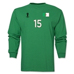 Algeria 2014 FIFA World Cup Brazil(TM) Men's LS Number 15 T-Shirt (Green)