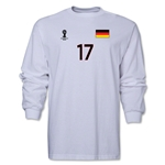 Germany 2014 FIFA World Cup Brazil(TM) Men's LS Number 17 T-Shirt (White)