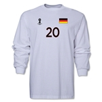Germany 2014 FIFA World Cup Brazil(TM) Men's LS Number 20 T-Shirt (White)
