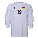 Germany 2014 FIFA World Cup Brazil(TM) Men's LS Number 19 T-Shirt (White)