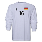 Germany 2014 FIFA World Cup Brazil(TM) Men's LS Number 16 T-Shirt (White)