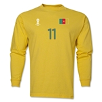 Cameroon 2014 FIFA World Cup Brazil(TM) Men's LS Number 11 T-Shirt (Yellow)