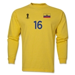Ecuador 2014 FIFA World Cup Brazil(TM) Men's LS Number 16 T-Shirt (Yellow)