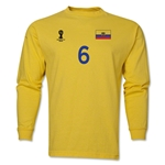 Ecuador 2014 FIFA World Cup Brazil(TM) Men's LS Number 6 T-Shirt (Yellow)