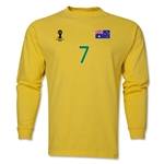 Australia 2014 FIFA World Cup Brazil(TM) Men's LS Number 7 T-Shirt (Yellow)