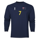 Australia 2014 FIFA World Cup Brazil(TM) Men's LS Number 7 T-Shirt (Navy)
