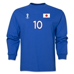 Japan 2014 FIFA World Cup Brazil(TM) Men's LS Number 10 T-Shirt (Royal)