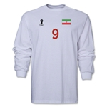Iran 2014 FIFA World Cup Brazil(TM) Men's LS Number 9 T-Shirt (White)