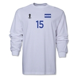 Honduras 2014 FIFA World Cup Brazil(TM) Men's LS Number 15 T-Shirt (White)
