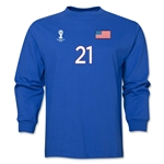 USA 2014 FIFA World Cup Brazil(TM) Men's LS Number 21 T-Shirt (Royal)