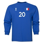 France 2014 FIFA World Cup Brazil(TM) Men's LS Number 20 T-Shirt (Royal)