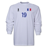 France 2014 FIFA World Cup Brazil(TM) Men's LS Number 19 T-Shirt (White)