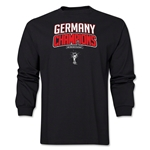 Germany 2014 FIFA World Cup Brazil(TM) Men's LS Champions Logotype T-Shirt (Black)