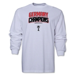 Germany 2014 FIFA World Cup Brazil(TM) Men's LS Champions Logotype T-Shirt (White)