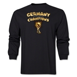 Germany 2014 FIFA World Cup Brazil(TM) Men's LS Champions Trophy T-Shirt (Black)