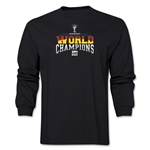 Germany 2014 FIFA World Cup Brazil(TM) Men's LS World Champions T-Shirt (Black)