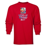FIFA Women's World Cup Canada 2015 French Slogan LS T-Shirt (Red)