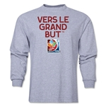 FIFA Women's World Cup Canada 2015 French Slogan LS T-Shirt (Grey)
