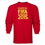 FIFA Women's World Cup Canada 2015 French Logotype LS T-Shirt (Red)