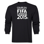 FIFA Women's World Cup Canada 2015 French Logotype LS T-Shirt (Black)