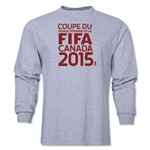 FIFA Women's World Cup Canada 2015 French Logotype LS T-Shirt (Grey