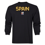 Spain FIFA Women's World Cup Canada 2015(TM) LS T-Shirt (Black)