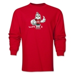 FIFA Women's World Cup Canada 2015(TM) Mascot Pose 1 LS T-Shirt (Red)