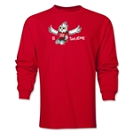 FIFA Women's World Cup Canada 2015(TM) Mascot Pose 2 LS T-Shirt (Red)