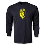 LOSC Lille Distressed Crest LS T-Shirt (Black)
