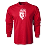 LOSC Lille Distressed Graphic LS T-Shirt (Red)