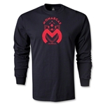 Morelia Monarcas Distressed Graphic LS T-Shirt (Black)