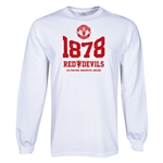 Manchester United 1878 LS T-Shirt (White)