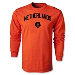 Netherlands Distressed LS T-Shirt (Orange)