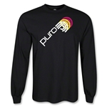 Puro Futebol Icon Repeat LS T-Shirt (Black)