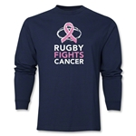 Rugby Fights Cancer Men's LS T-Shirt (Navy)